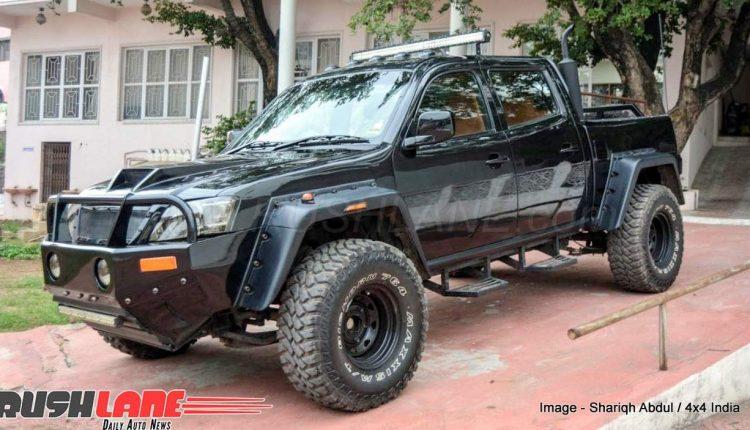 Us Auto Sales >> Tata Xenon SUV modified in a full black avatar - Loaded ...