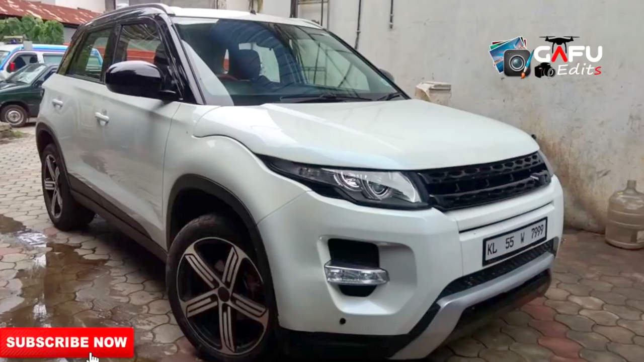 To Make The New Brezza Stand Apart Owner Has Also Added Land Rover Like Honeycomb Front Grill In Place Of Chrome Grille Offered By Maruti