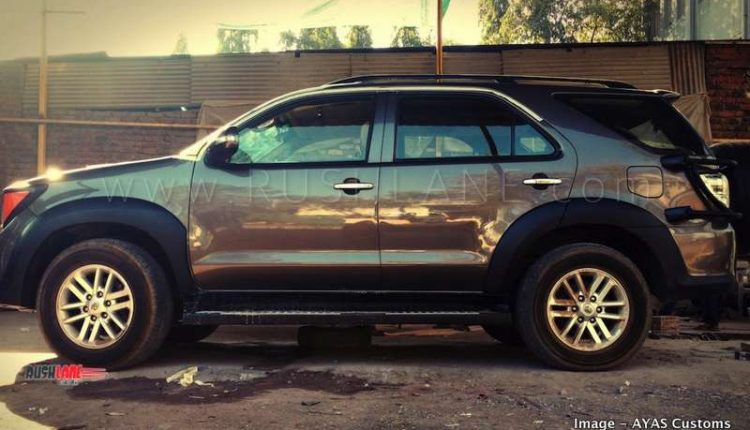 old toyota fortuner suv modified to look like jeep renegade for rs 14 lakhs. Black Bedroom Furniture Sets. Home Design Ideas