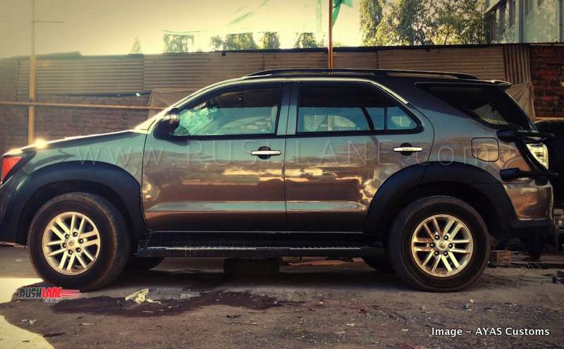 Jeep Renegade Interior >> Old Toyota Fortuner SUV modified to look like Jeep ...