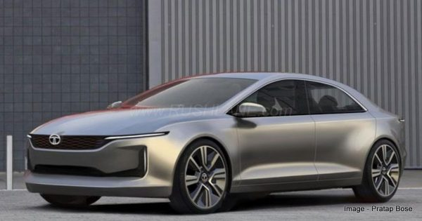 Tata E-Vision sedan