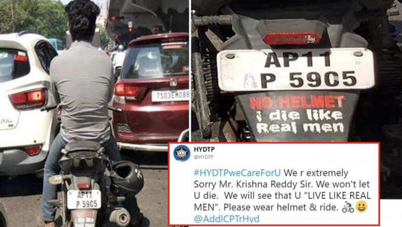 Not only mumbai police other citys police department are also catching vehicles with stickers and fining