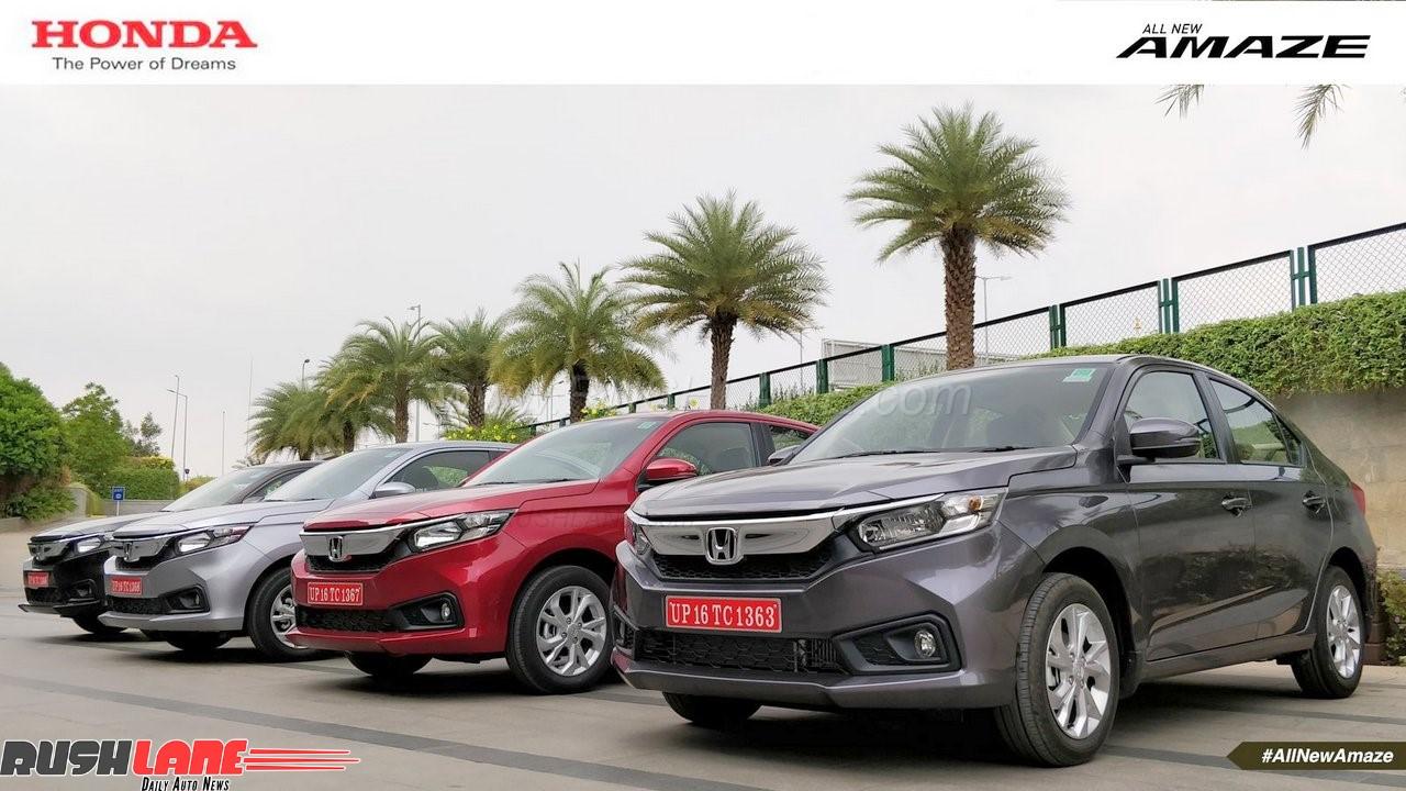 2018 Honda Amaze Vs Maruti Dzire Vs Hyundai Xcent Vs Tata Tigor