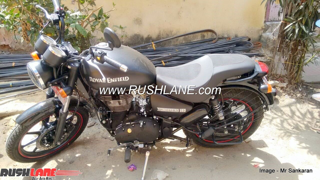 royal enfield thunderbird 350 modified to 350x for rs 20 000. Black Bedroom Furniture Sets. Home Design Ideas