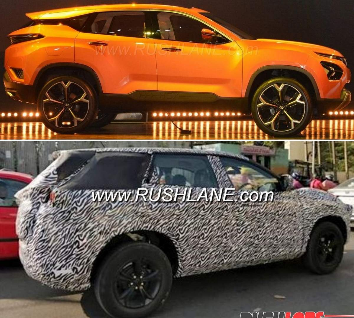 Tata H7X SUV with 3 row seating spied on test in Ooty