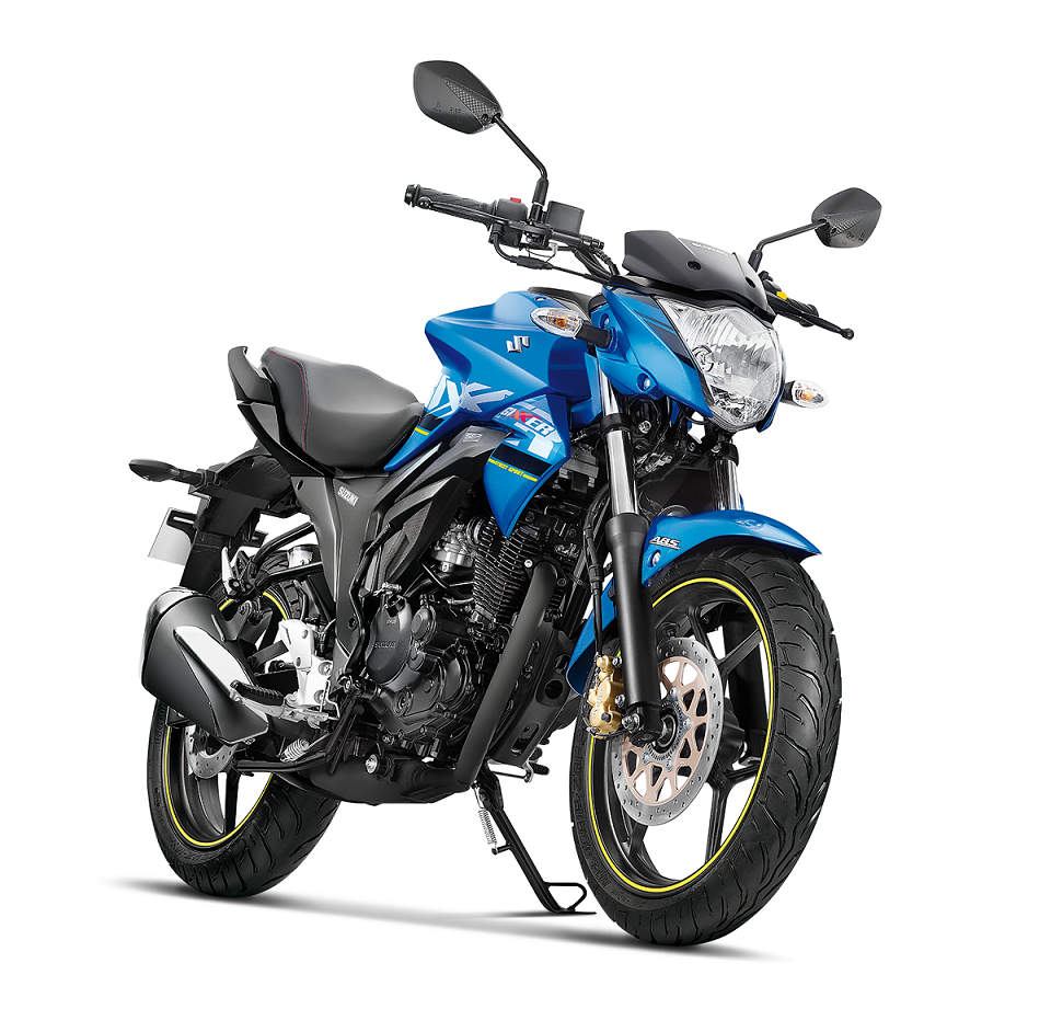 2018 Suzuki Gixxer 155 ABS receives conventional telescopic forks in the  front and monoshock at the rear. Its braking is via 266mm disc brake in  front and ...