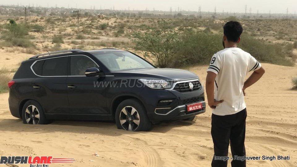 Mahindra Xuv700 Spied Testing All Wheel Drive In The Desert Heat