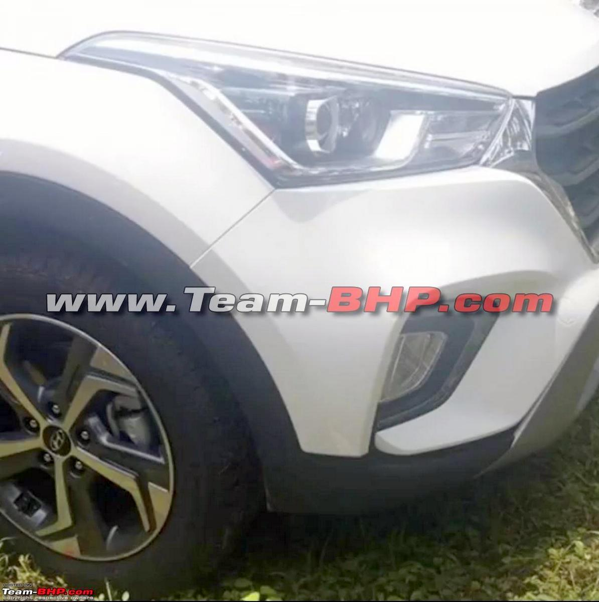 New Hyundai Creta Facelift Front And Rear Spied Undisguised