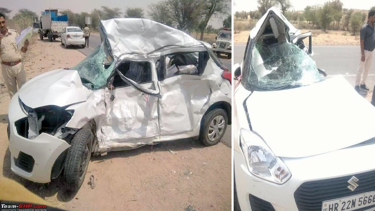 husband and wife fight while driving car results in accident - 4 dead
