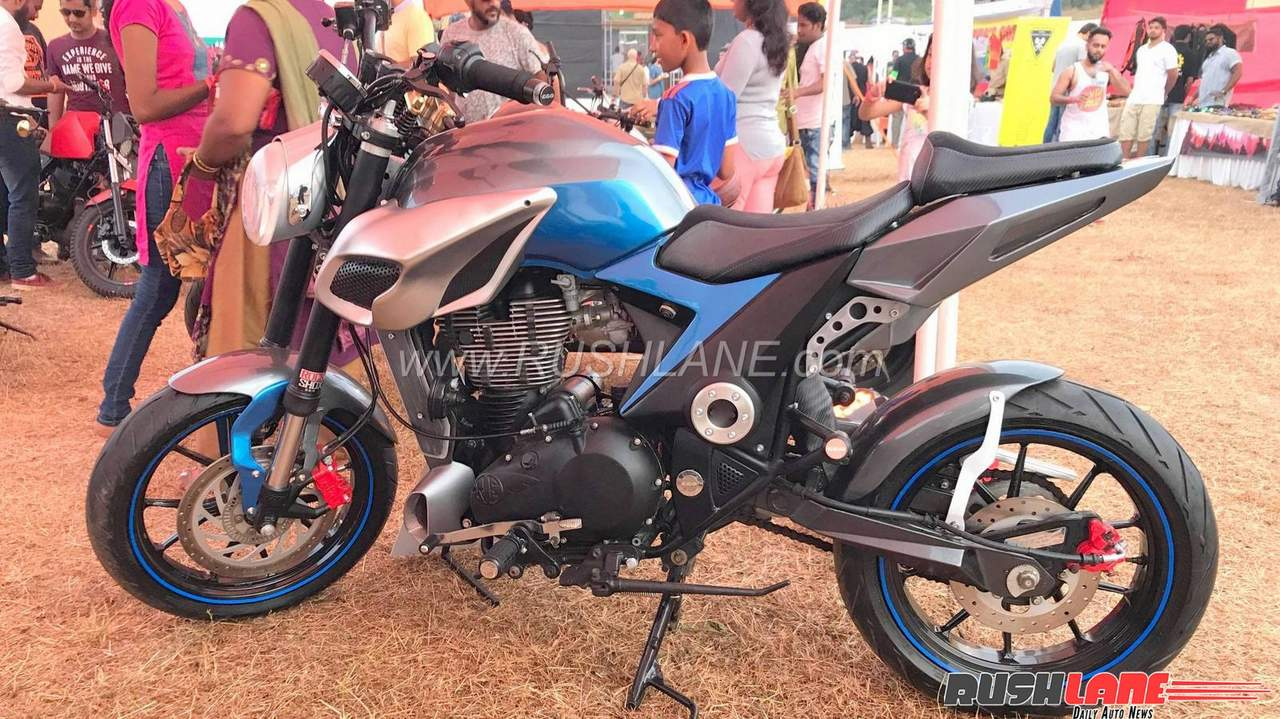 Royal Enfield modified as a naked sports bike - Gets Metzeler, ABS