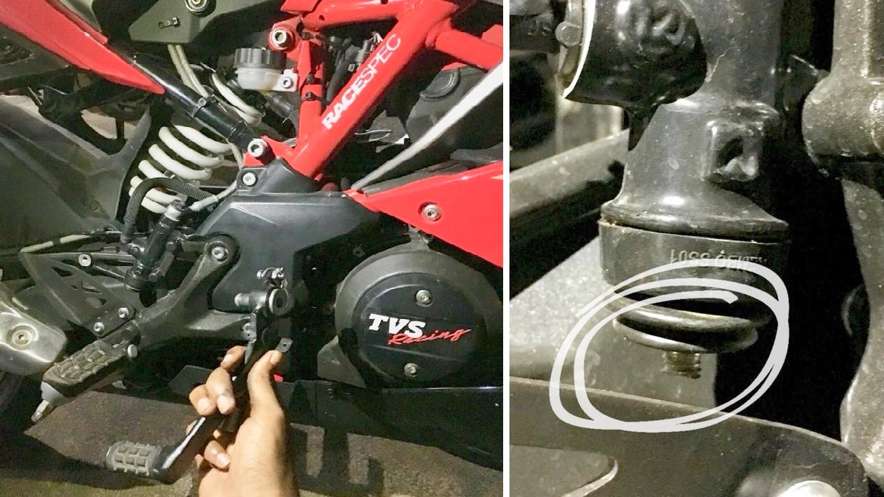 TVS Apache 310 rear brake lever comes off while riding