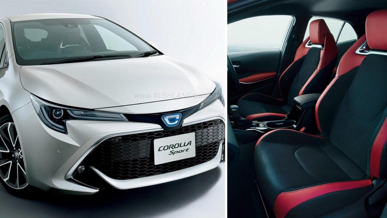 Seen In A Red And Black Interior Design The New Corolla Sport Wishes To Attract Younger Set Of Ers Hence Comes With Host Technology