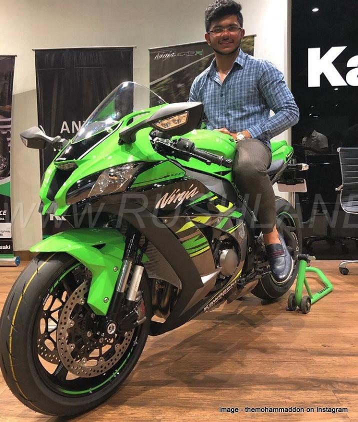 Made In India Kawasaki Ninja Zx10r Sportsbike First Owner Takes