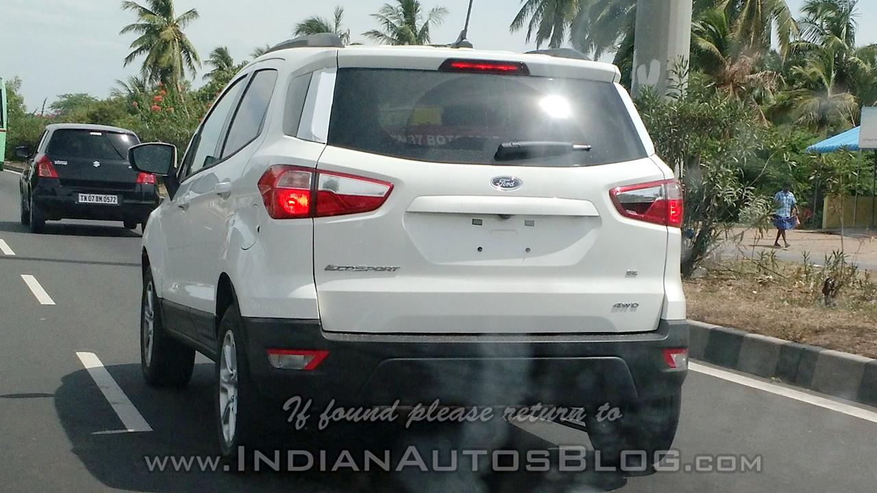 Ford Ecosport Fwd White Colour Spied On Test In India Is Launch Near