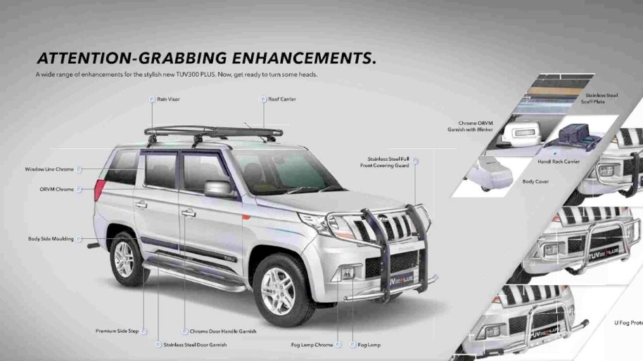 List Of Official Accessories On Offer With The New 9 Seater Mahindra