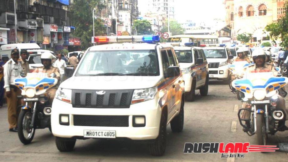 CM inducts Mahindra TUV300 SUVs for Mumbai Police - Replaces Bolero