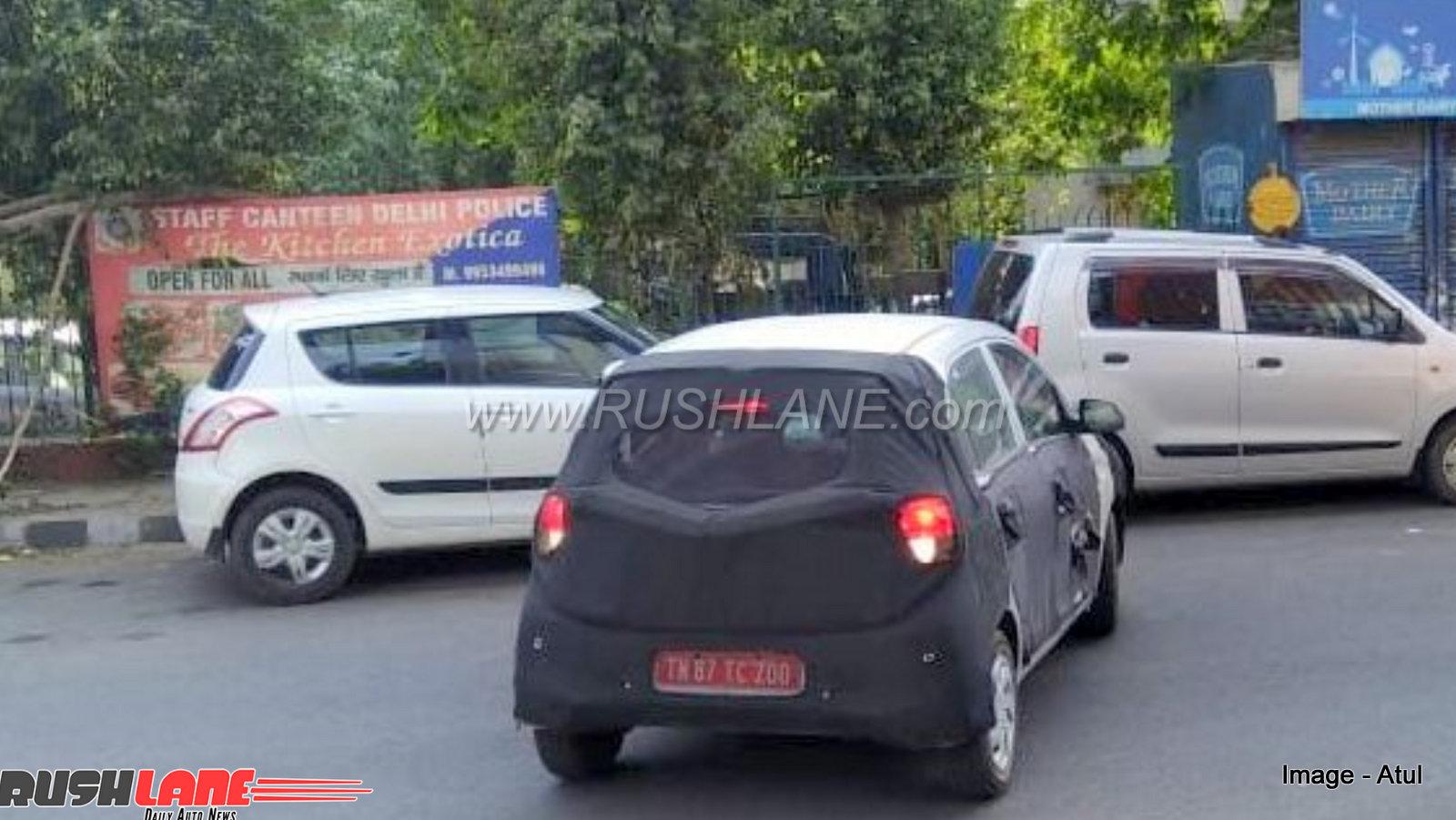 2018 hyundai santro spied next to maruti swift, alto, wagonr