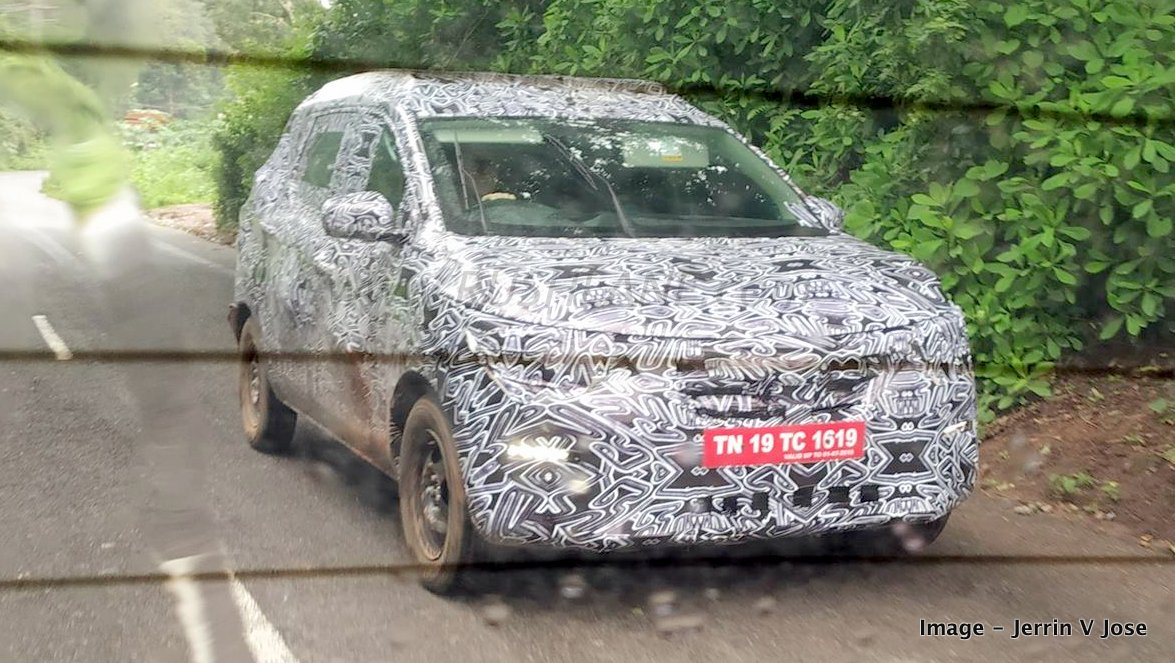 Renault Kwid Based 7 Seater Mpv Spied On Test In India