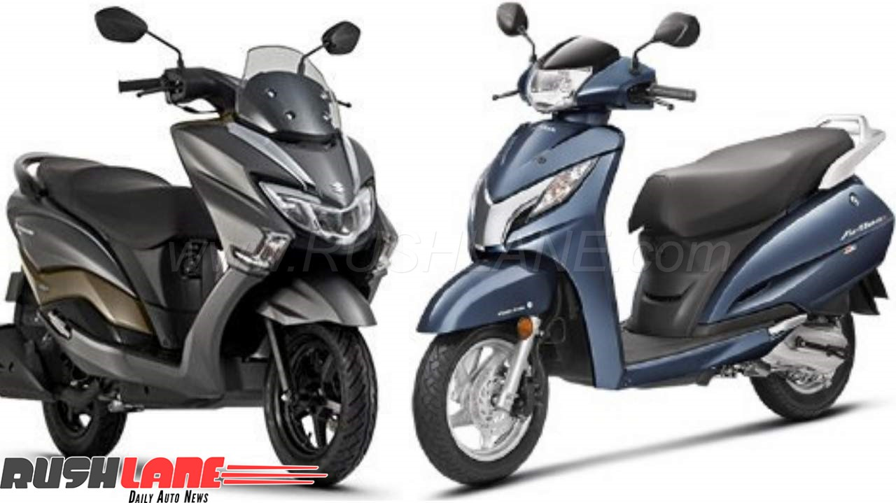 2018 Suzuki Burgman Vs Honda Activa Compared On Price Features