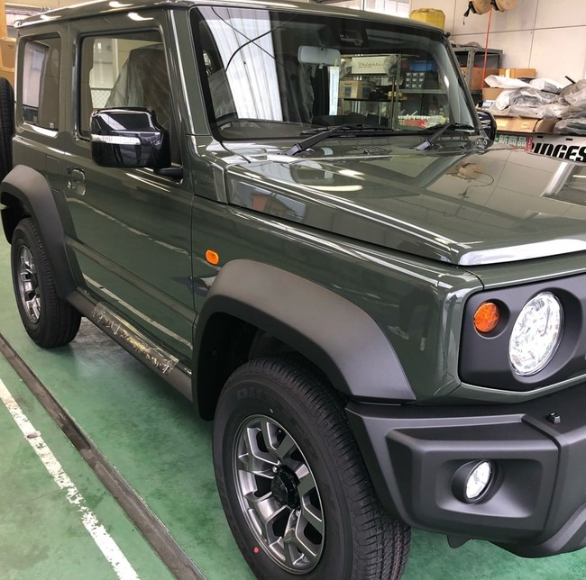 2018 suzuki jimny suv awd in electric blue with offroad accessories. Black Bedroom Furniture Sets. Home Design Ideas