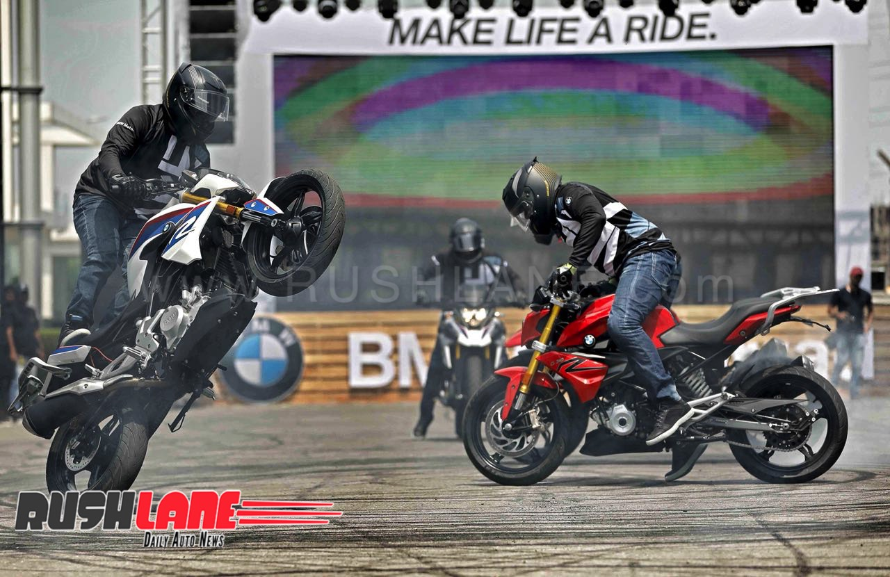 Bmw G310r And G310gs Stunt Show At India Launch Over 1 000