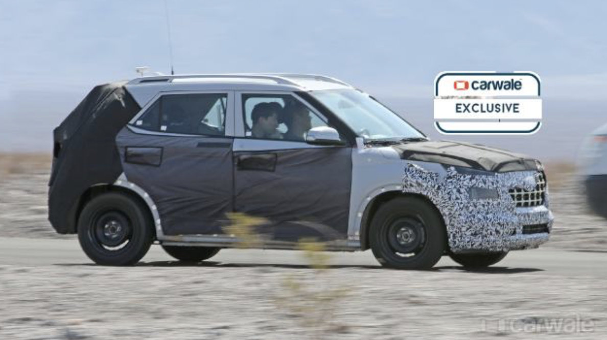 New Hyundai Suv Spied On Test Rival To Maruti Brezza Tata Nexon