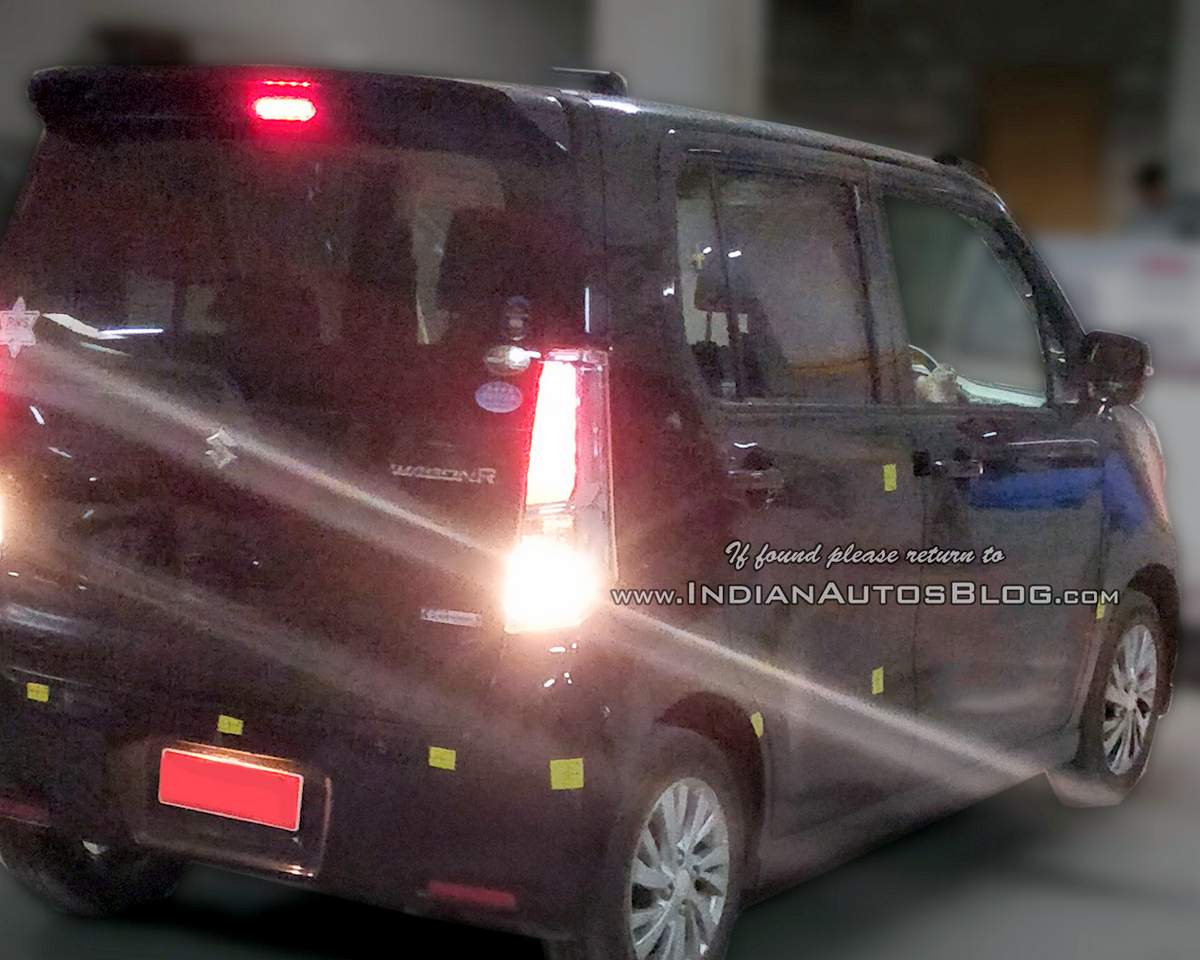 New Maruti Wagonr 5 Seater Spied With Badging Launch By Diwali 2018