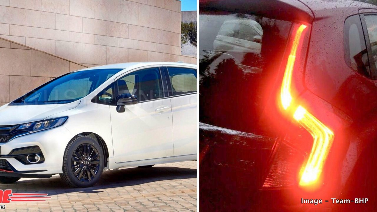 The Soon To Be Launched Honda Jazz Receives A Modern Touch With New Design Language It Gets An Angular Front Fascia Thick Horizontal Slat Grille