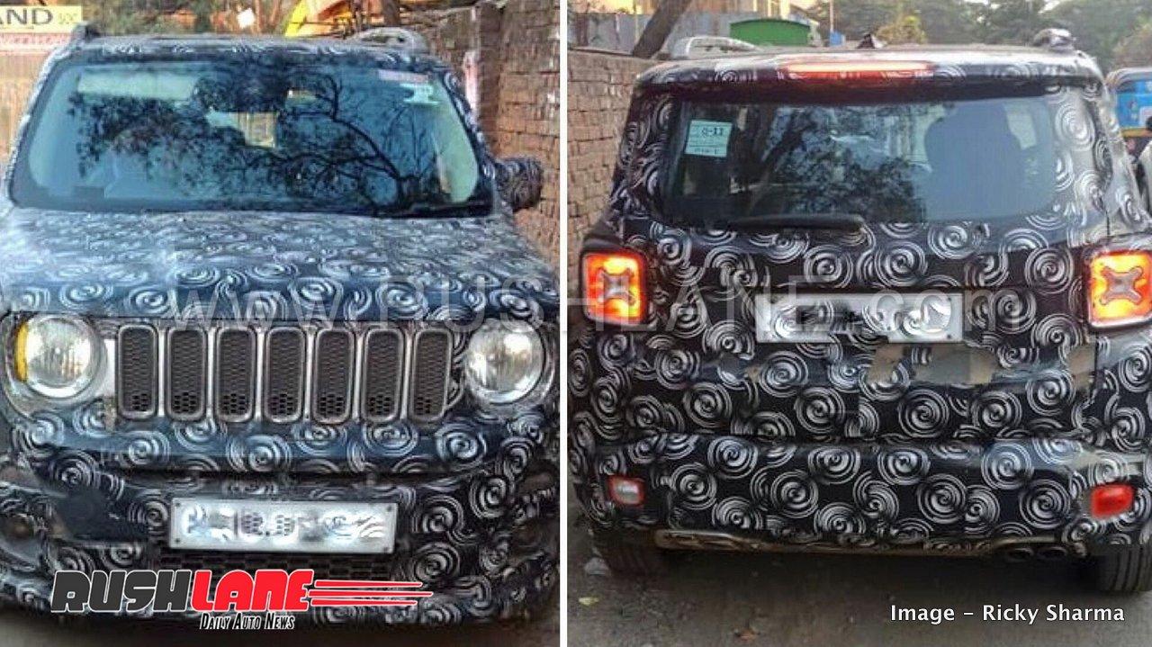 Jeep Renegade In India >> 2019 Jeep Renegade based small SUV (Suzuki Jimny rival) spied in India