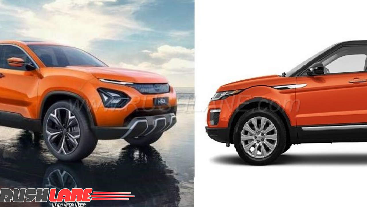 2018 Tata Harrier H5x Based On Range Rover Evoque Suv Can You Spot