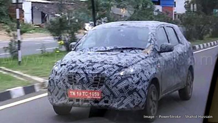 2018 Datsun Go Plus Mpv Spied Upcoming Maruti Wagonr 7 Seater Rival