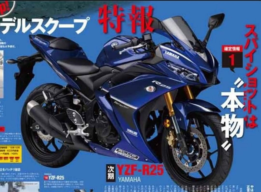 2019 yamaha r25 photos and rendering leak online