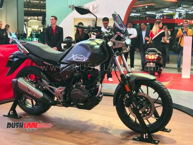 hero xpulse 200 t touring motorcycle showcased