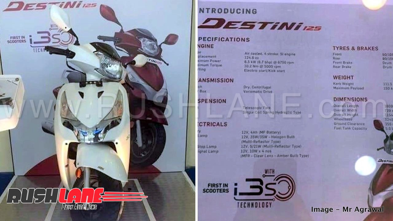 2018 Hero Destini 125 brochure leaked – First scooter with i3S to take on  Honda Activa