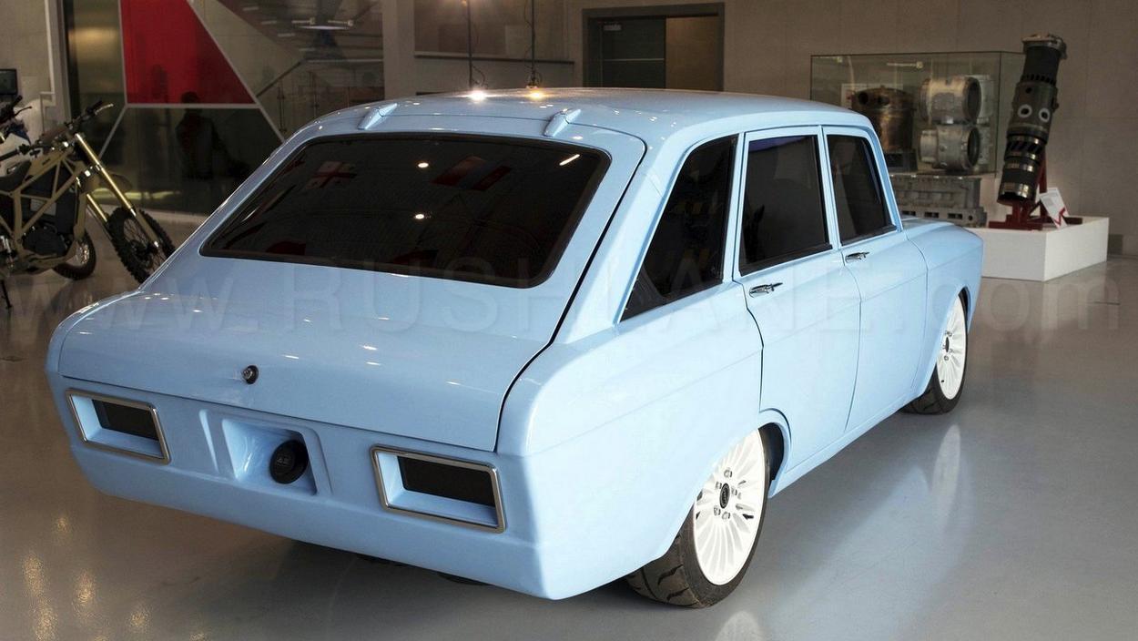 electric car concept showcased the maker fo ak