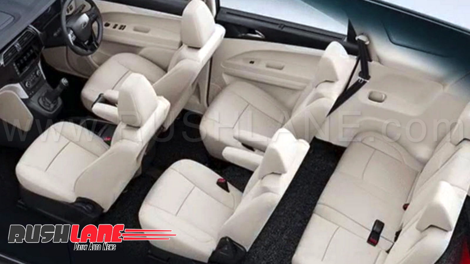New Mahindra Marazzo MPV 3 Row 7 / 8 Seats Arrangement In