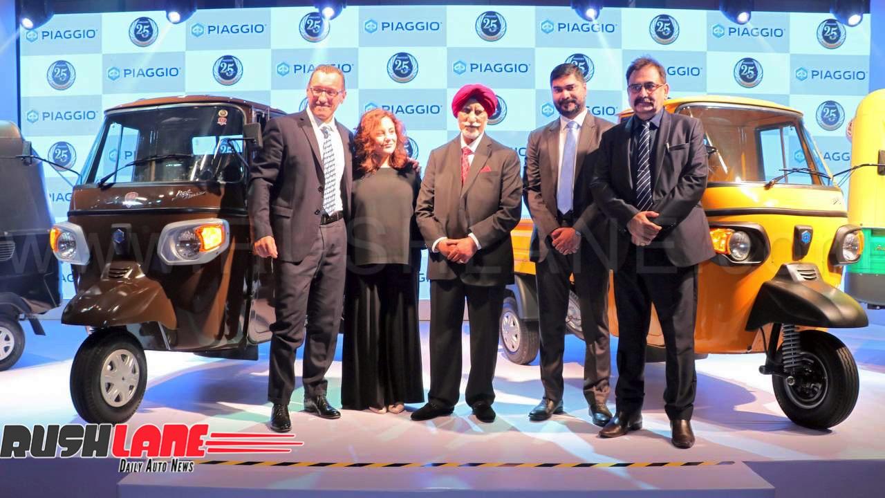 Piaggio Rickshaw And Scv Production In India Crosses 25 Lakh Mark