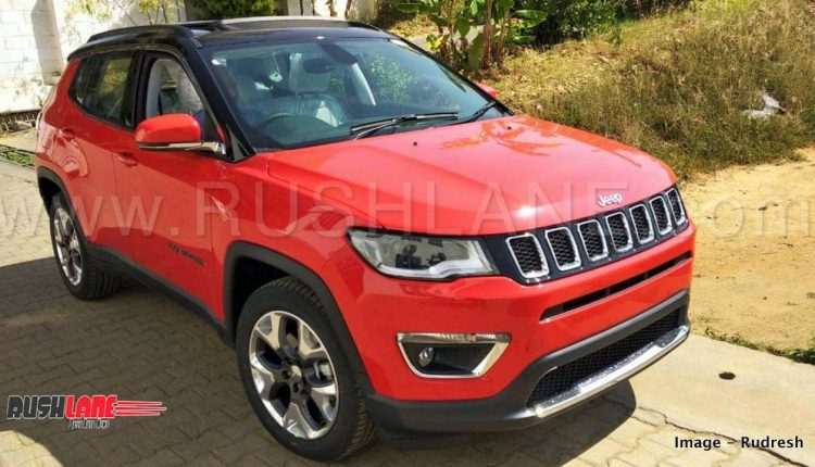 jeep compass limited plus launch price rs 21 l to 23 l first look video. Black Bedroom Furniture Sets. Home Design Ideas