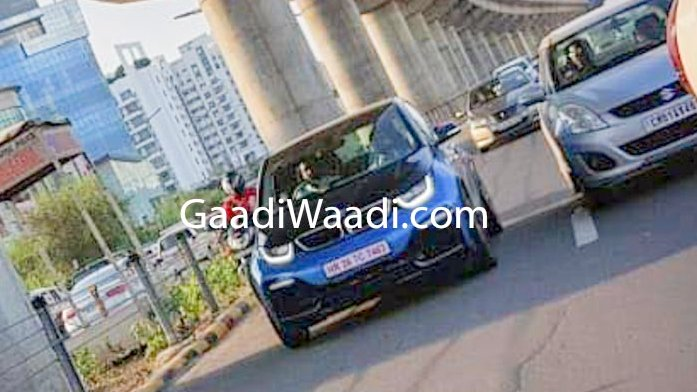 2019 Bmw I3 Electric Car Spied Testing In India With Hr Number Plate