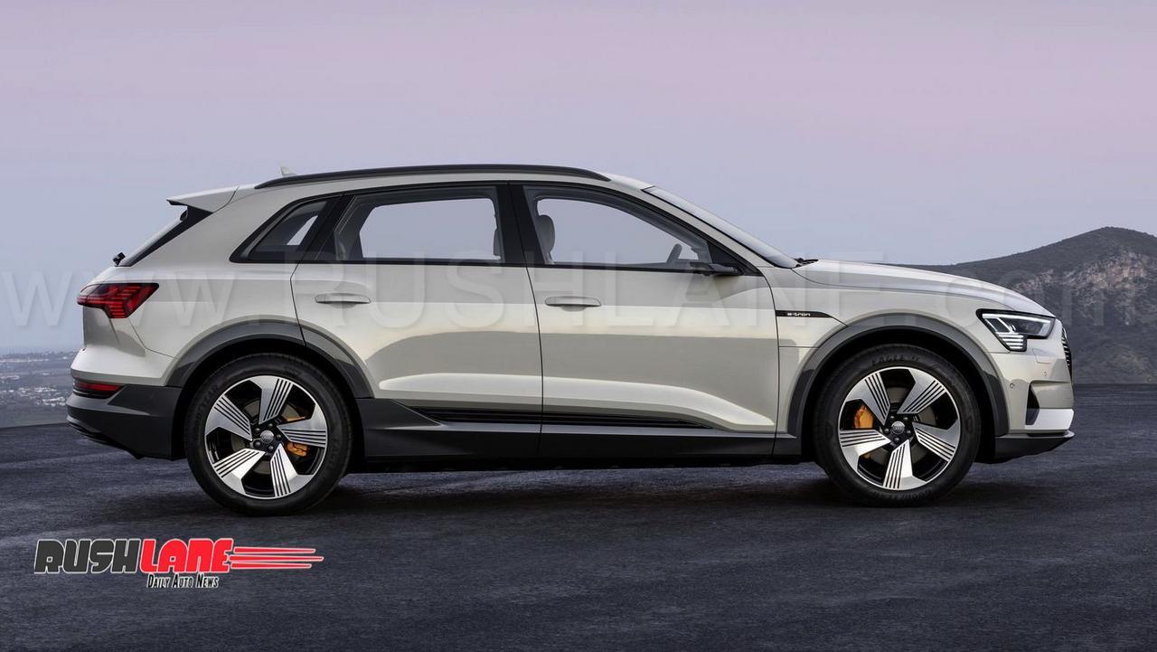 audi etron full electric car debuts