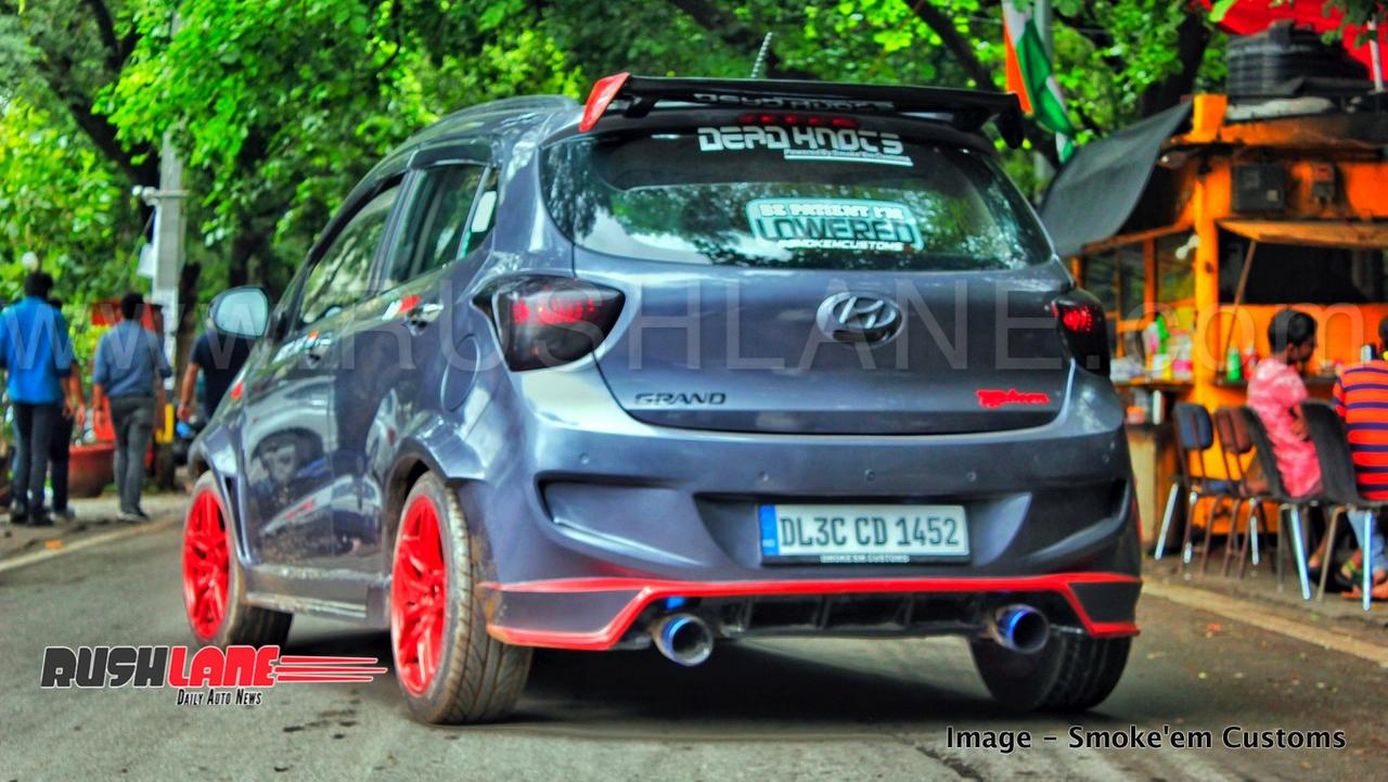 The modified hyundai grand i10 is not just about the show the mechanical upgrades justify the cars nickname typhoon the 1 2 litre kappa petrol engine is