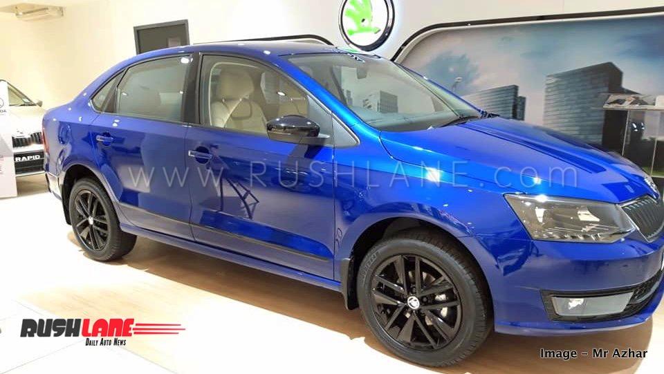New Skoda Rapid Lapiz Blue Colour Arrives At Dealer Rivals 2018