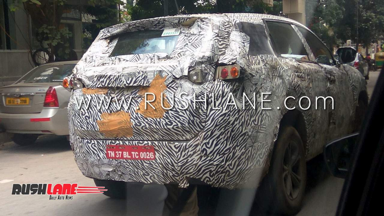 Tata Harrier Suv Spied Testing Looks The Size Of