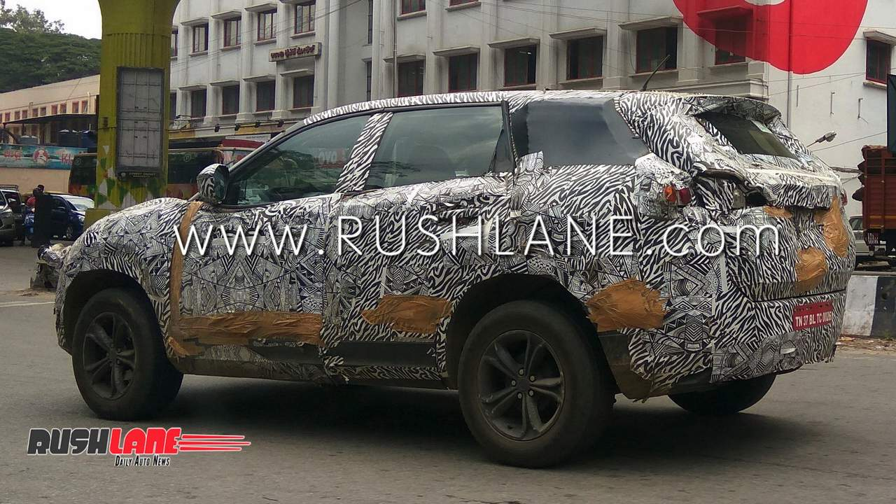 Best 7 Seater Suv >> Tata Harrier SUV spied testing - Looks the size of ...