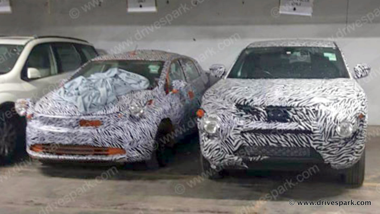 Tata Harrier Suv Spied Next To Mahindra Xuv500 Architecture Video