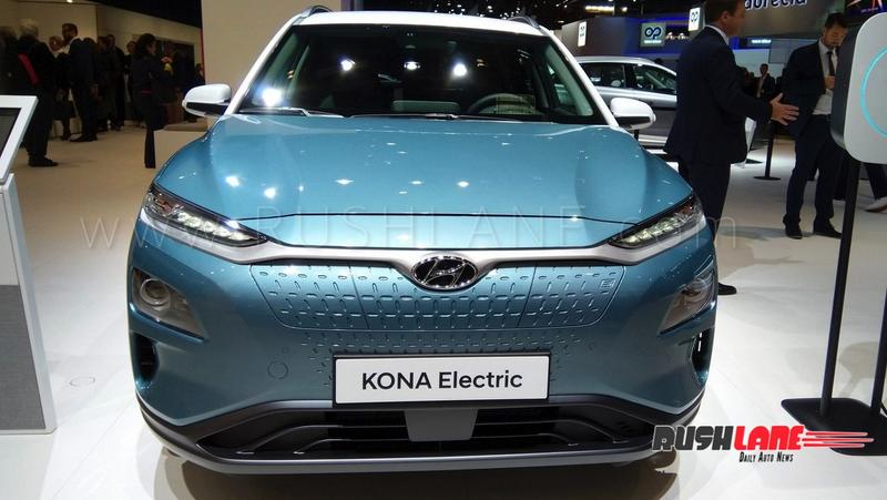 India Bound 2019 Hyundai Kona Electric Suv Showcased At