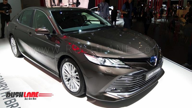 2019 Toyota Camry Hybrid Luxury Sedan Showcased India Launch Next Year