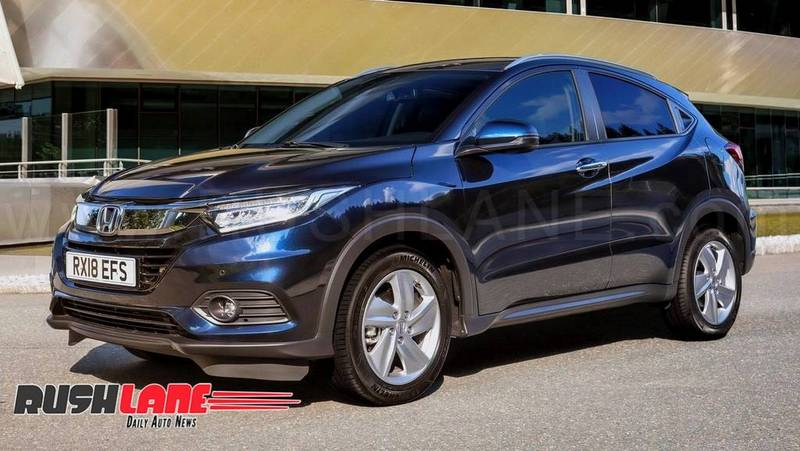 Honda HRV SUV spied in India for the 1st time ahead of