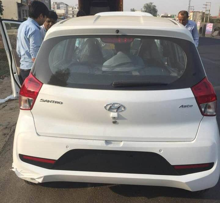 Hyundai Santro colour options revealed - White Asta top ...
