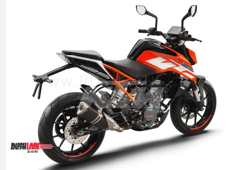 The new Duke 125 shares its design and equipment with the current gen Duke  250 and 390 variants. The only visual difference comes from the color theme  and ...
